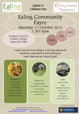Ealing Community fayre poster A4